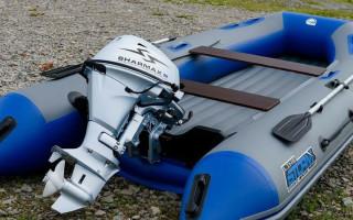 Установка лодочного мотора и регулировка углов и высоты