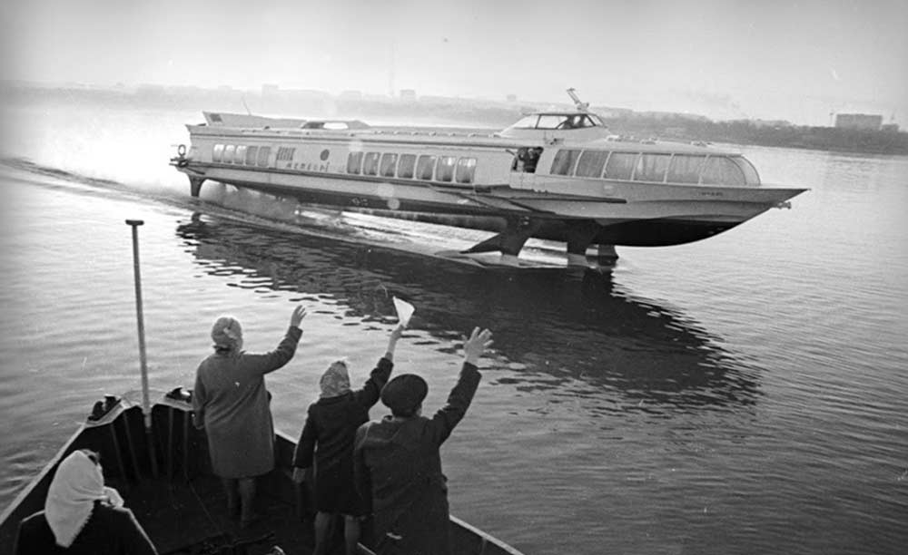 Старые фото Метеора на подводных крыльях