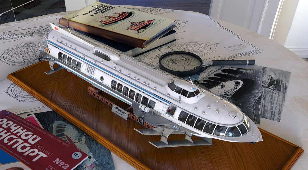 Модель катера Метеор