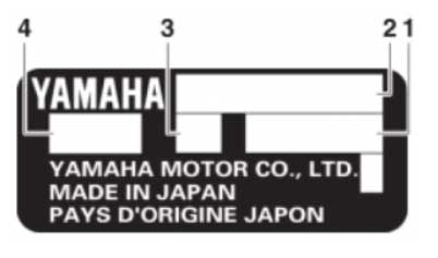 Маркировка лодочного мотора Yamaha