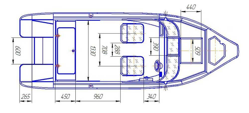 Схема катера Беркут С