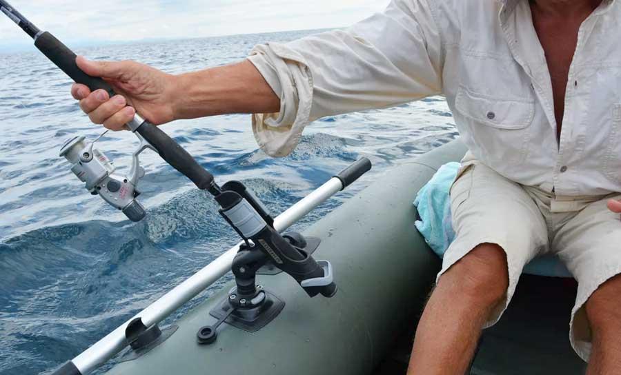 Держатель для спиннинга на лодку ПВХ
