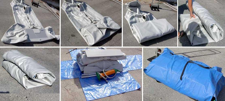 Упаковка и хранение лодки ПВХ