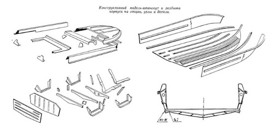 Конструкция корпуса лодки Крым