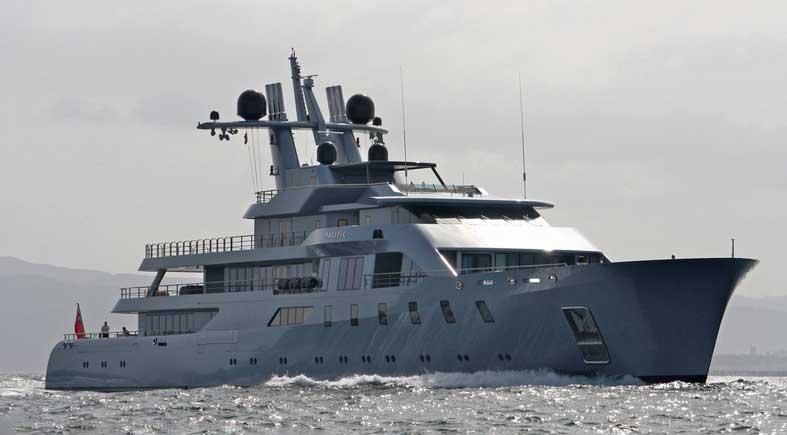 Яхта Леонида Михельсона Pacific