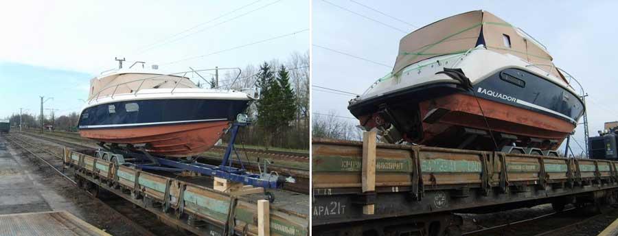 Перевозка катера или яхты железной дорогой