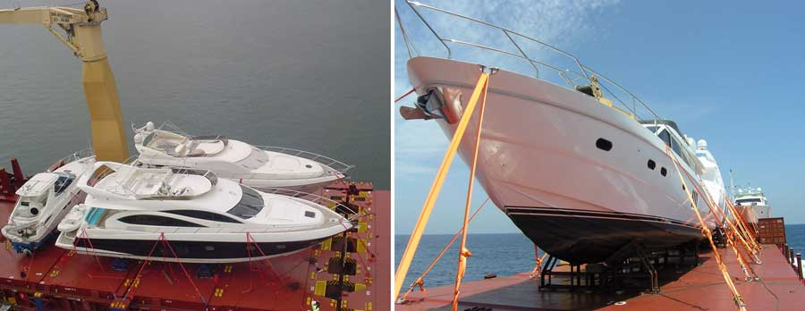 Перевозка катеров и яхт морем