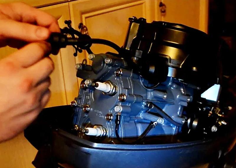 Проверка электронной и топливной системы лодочного мотора