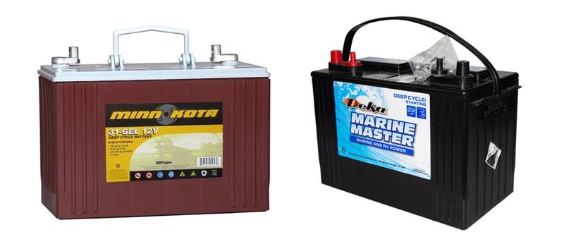 Тяговые гелевые аккумуляторы для лодочных электромоторов