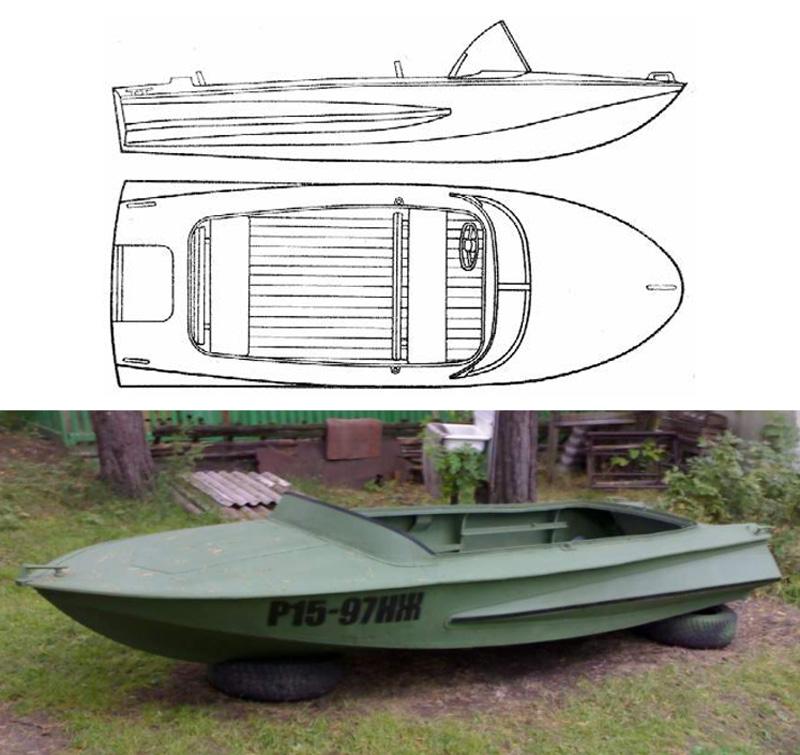 Лодка Обь конструкция