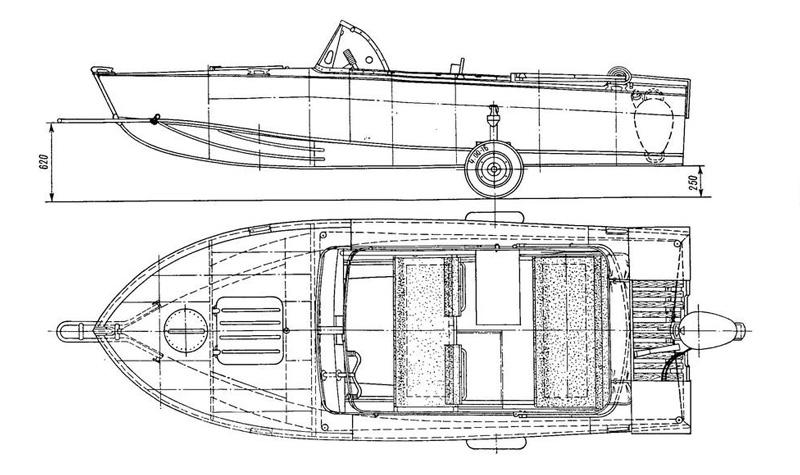 Лодка Прогресс 4 чертеж