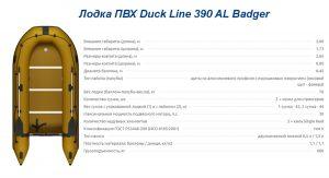 Лодка ПВХ Duck Line 390 AL Badger