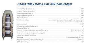 Лодка ПВХ Fishing Line 390