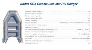Лодка ПВХ Classic Line 300 PW Badger