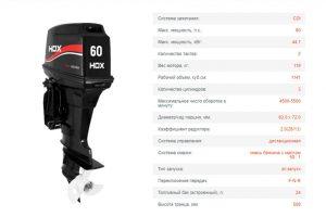 Лодочный мотор HDX T 60
