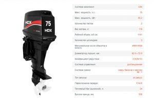 Лодочный мотор HDX T 75