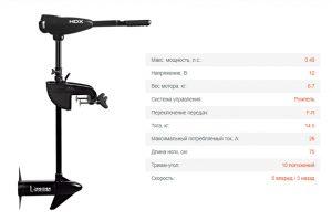 Лодочный электромотор HDX 32L