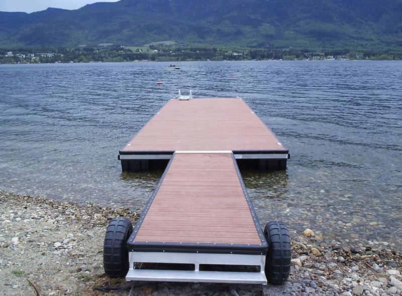 Мобильный понтон для катера