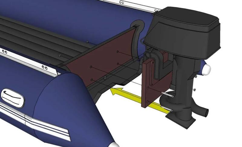 Установка подвесного мотора на лодку ПВХ